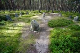 Cmentarzysko z kręgami kamiennymi w Grzybnicy pochodzi z pierwszych wieków naszej ery. Odkryto tutaj ponad 100 pochówków, 5 kręgów i 2 kurhany.